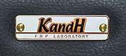 KandHの白ネームプレート