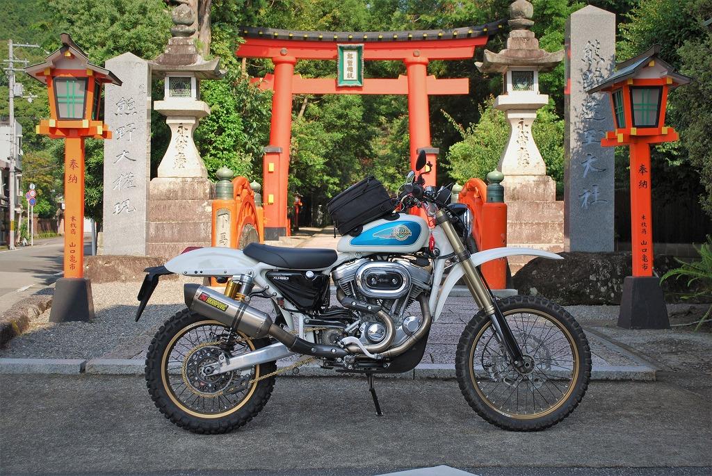 バイク-熊野速玉大社ースポーツスター