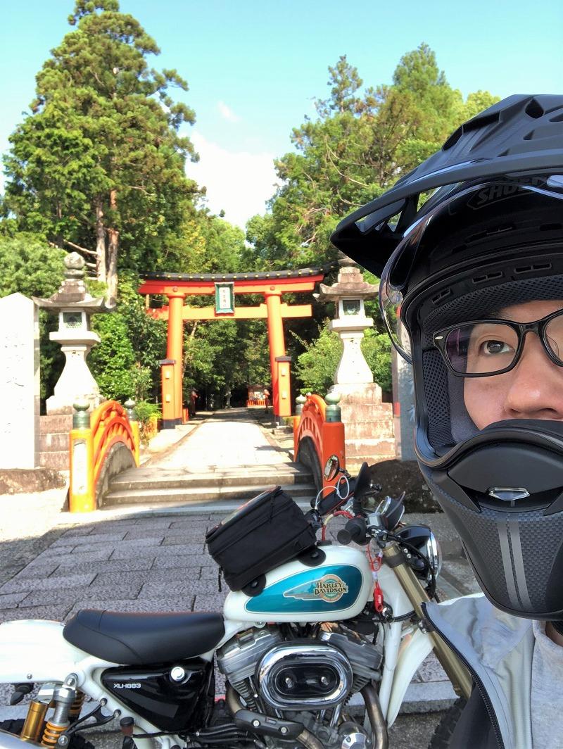 熊野速玉大社-バイク-スポーツスター