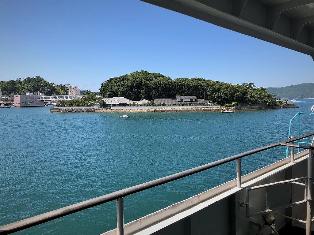 ミキモト真珠島-船から