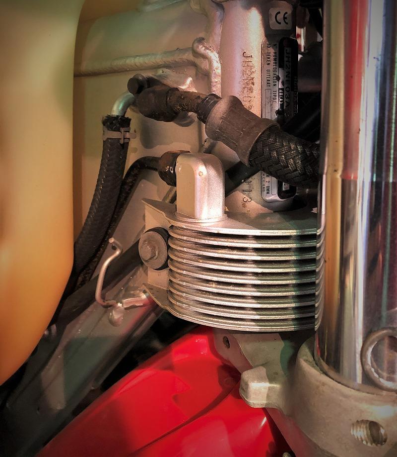 honda-xr400-oil-cooler-オイルクーラー