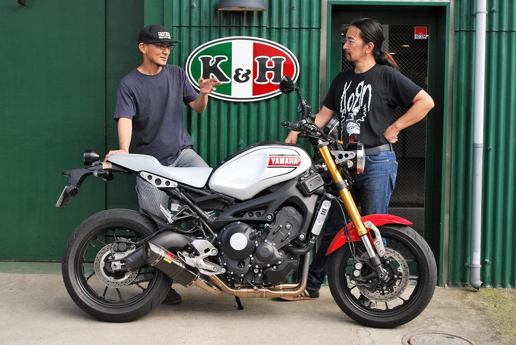 ファニーズ川口さんとK&H上山とXSR900