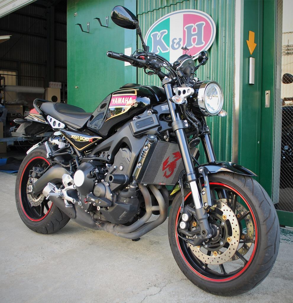 ヤマハXSR900オーセンティックブラックK&Hハイシート