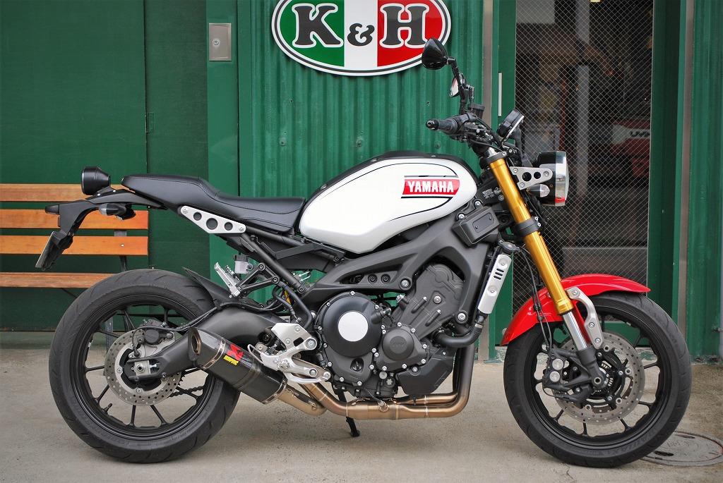 xsr900K&Hハイシート試作レザー装着