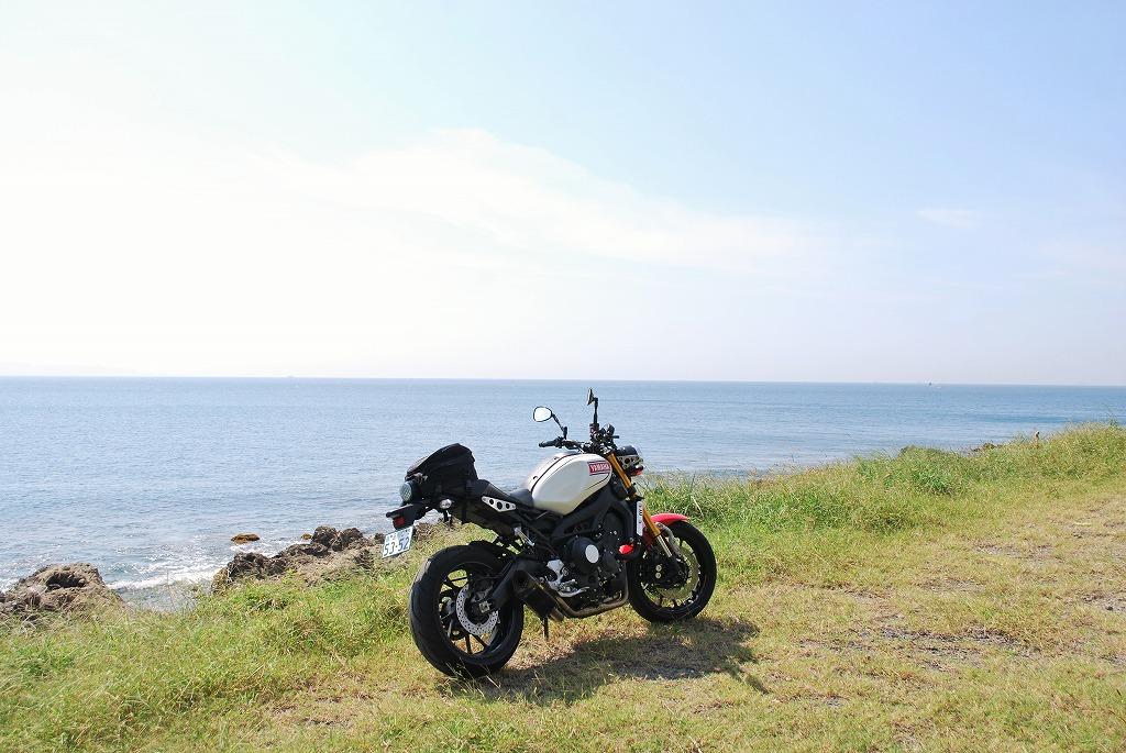 xsr900k&hローシート岩井水平線