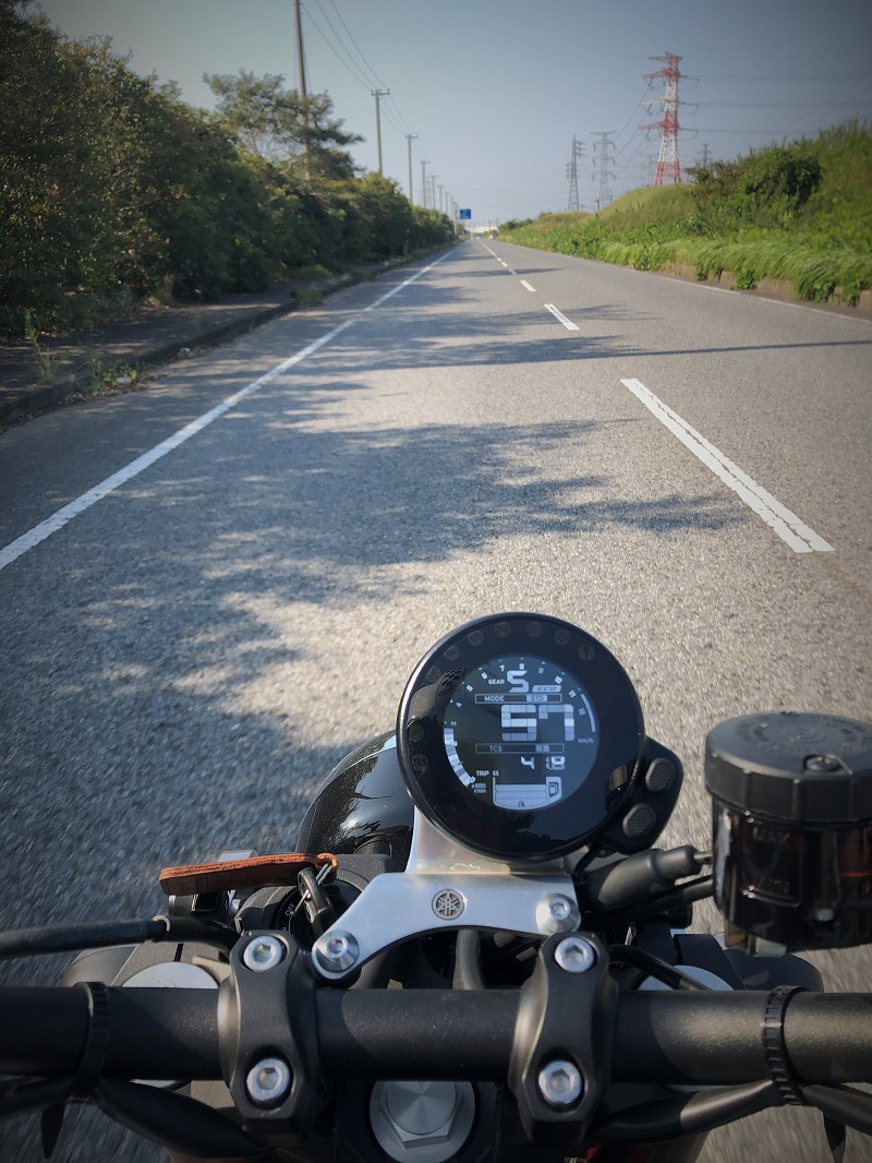 xsr900君津湾岸道路