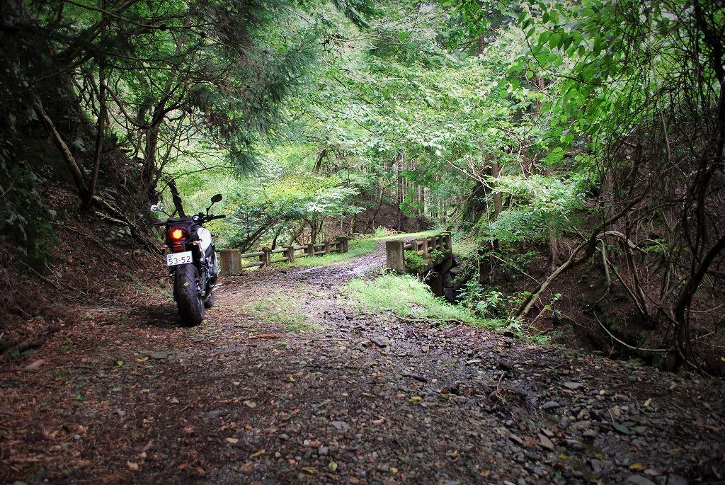 XSR900K&Hハイシート付けてツーリング栃木の林道